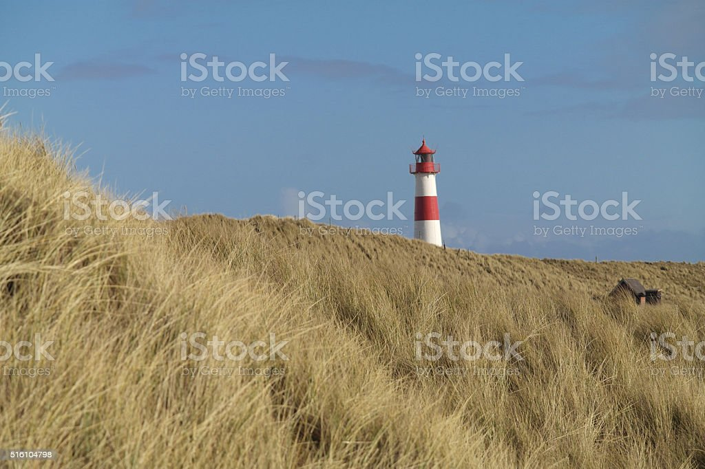 Lighthouse List stock photo