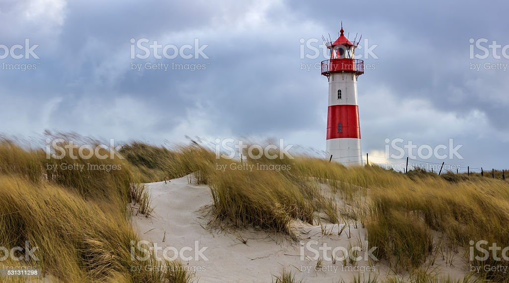Lighthouse - List, Sylt stock photo