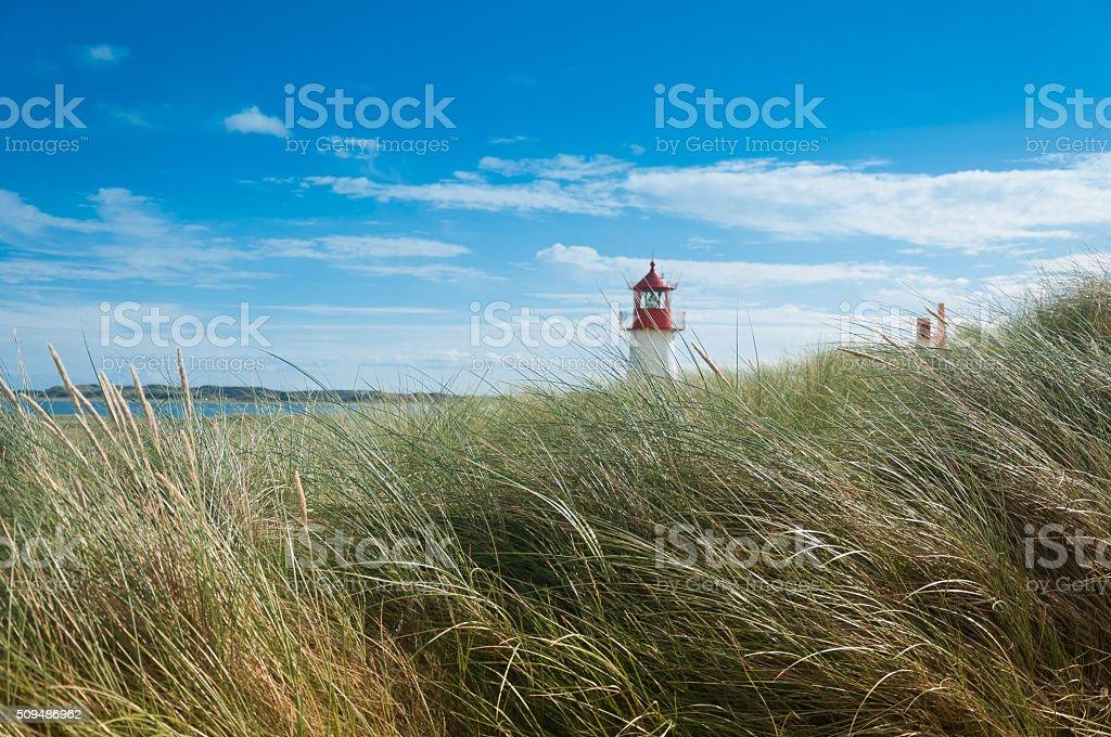 Lighthouse List West, Ellenbogen, Sylt stock photo
