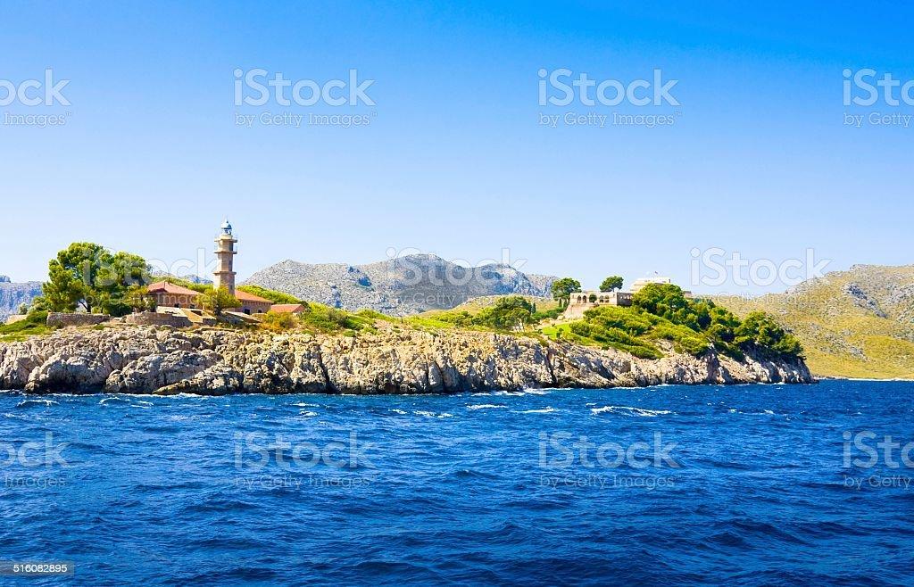 Lighthouse, Mallorca, Balearic island, Spain stock photo