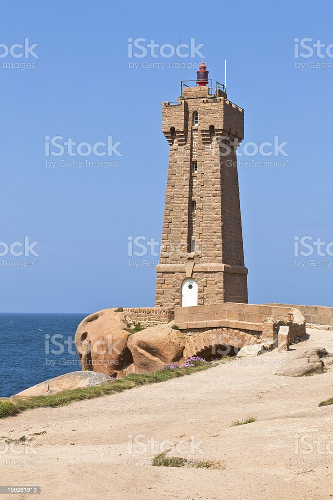 Lighthouse Men Ruz at Brittany, France royalty-free stock photo