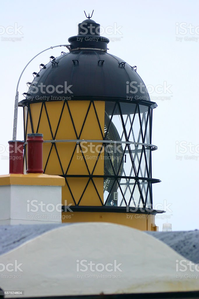 Lighthouse Mull of Kintyre stock photo