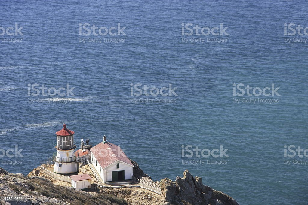 Lighthouse Nautical Building Point Reyes stock photo
