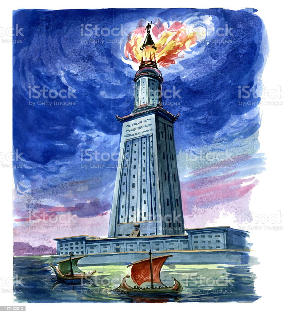 Lighthouse of Alexandria stock photo