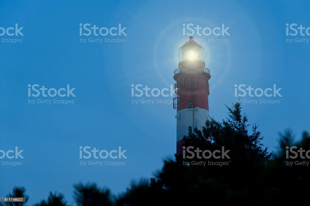 Lighthouse of Amrum in Germany stock photo