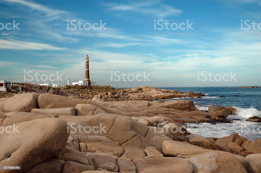Lighthouse of Cabo Polonio royalty-free stock photo