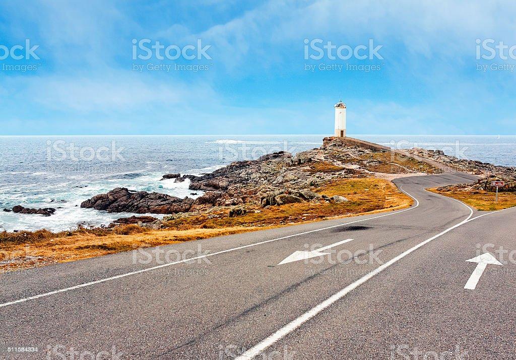 Lighthouse Of Cabo Vilan, Galicia, Spain stock photo