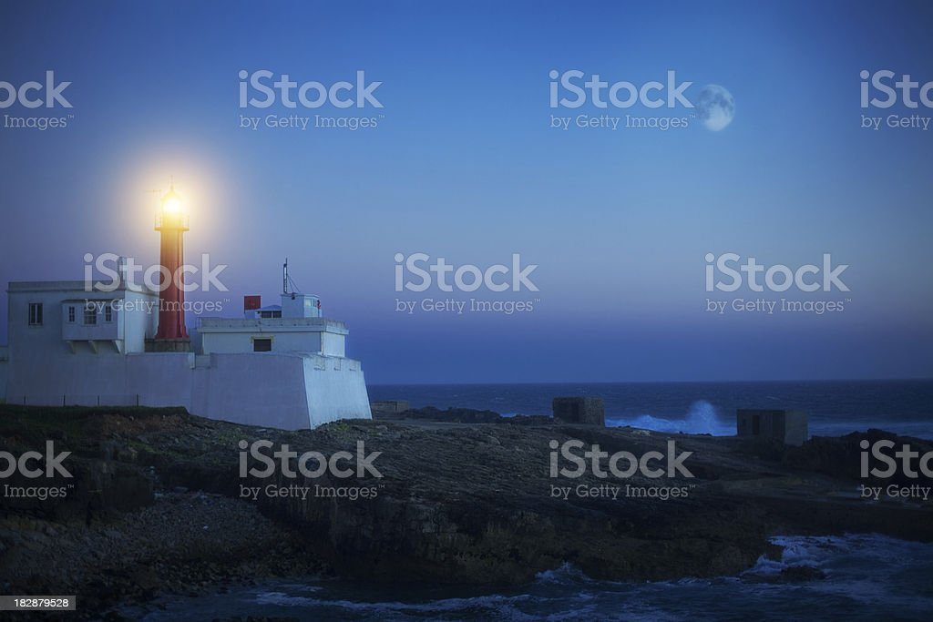 Lighthouse of Cape Raso, Portugal royalty-free stock photo