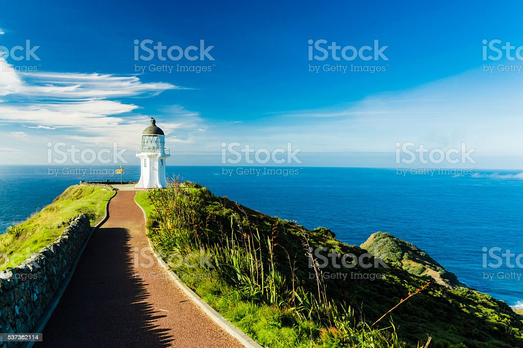 Lighthouse of Cape Reinga III stock photo