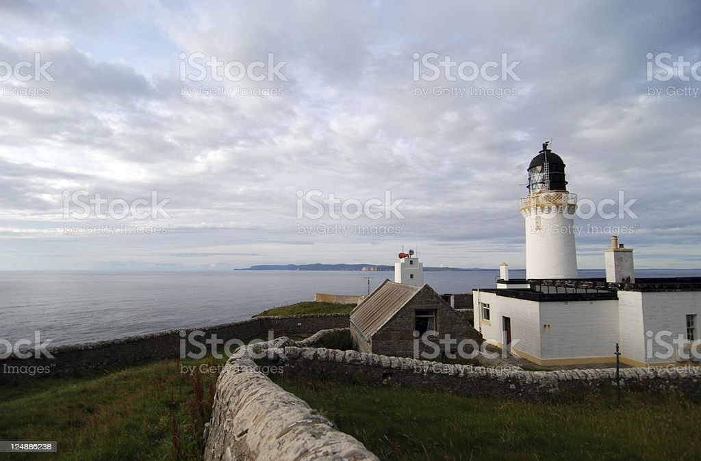 Lighthouse of Dunnet Head, Scotland royalty-free stock photo