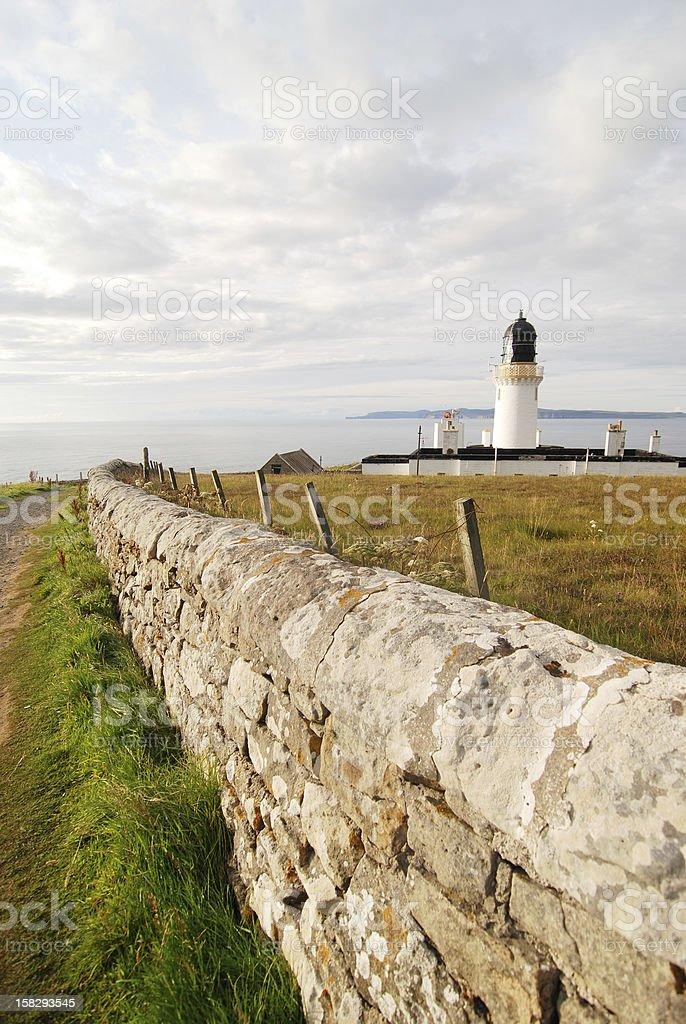 Lighthouse of Dunnet Head, Scotland stock photo