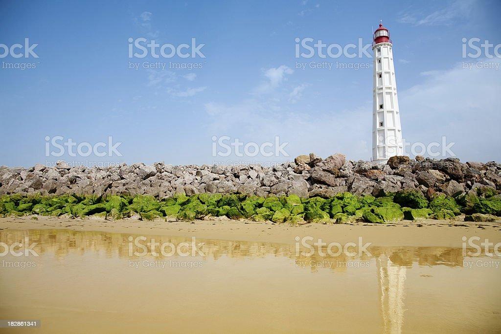 Lighthouse of Farol do Bazaruto royalty-free stock photo