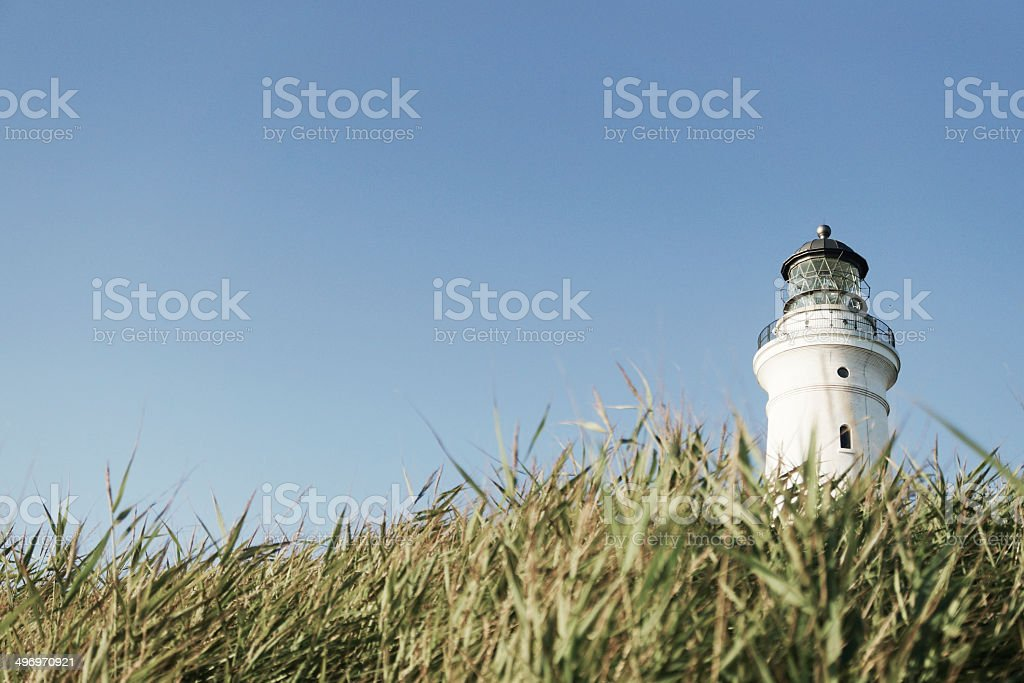 Lighthouse of Hirtshalt, Northern Denmark stock photo