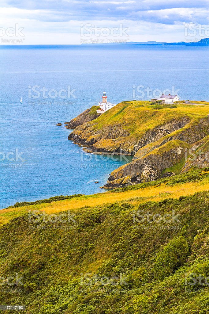Lighthouse of Howth stock photo