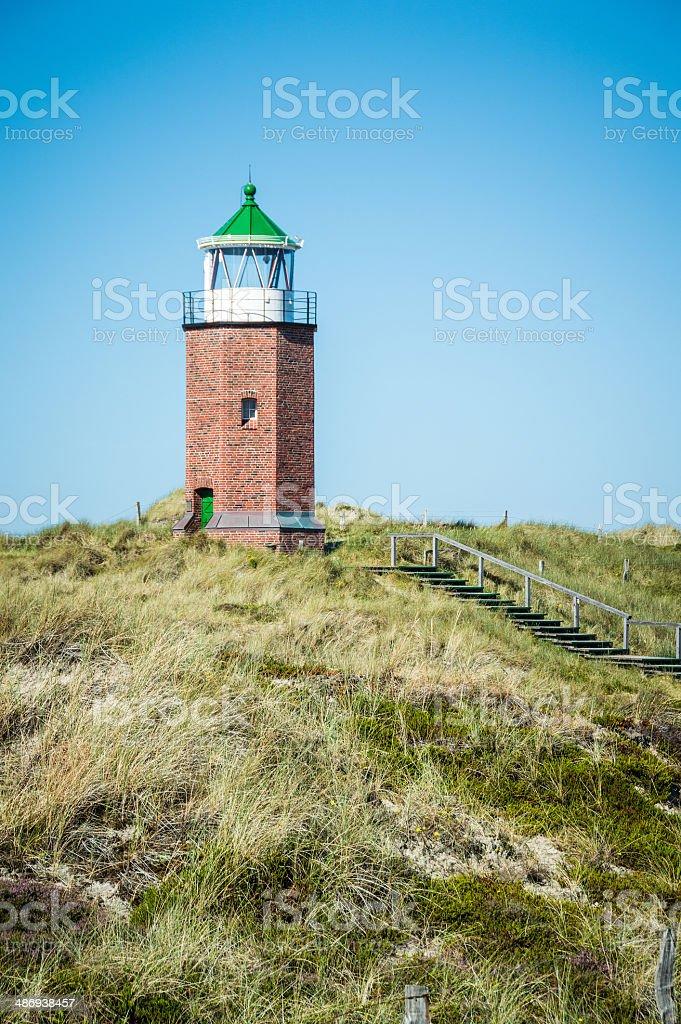 Lighthouse of Kampen Sylt royalty-free stock photo