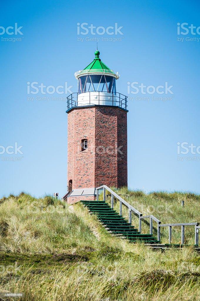 Lighthouse of Kampen Sylt stock photo