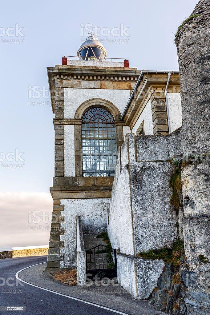 Lighthouse of Luarca, Asturias, stock photo