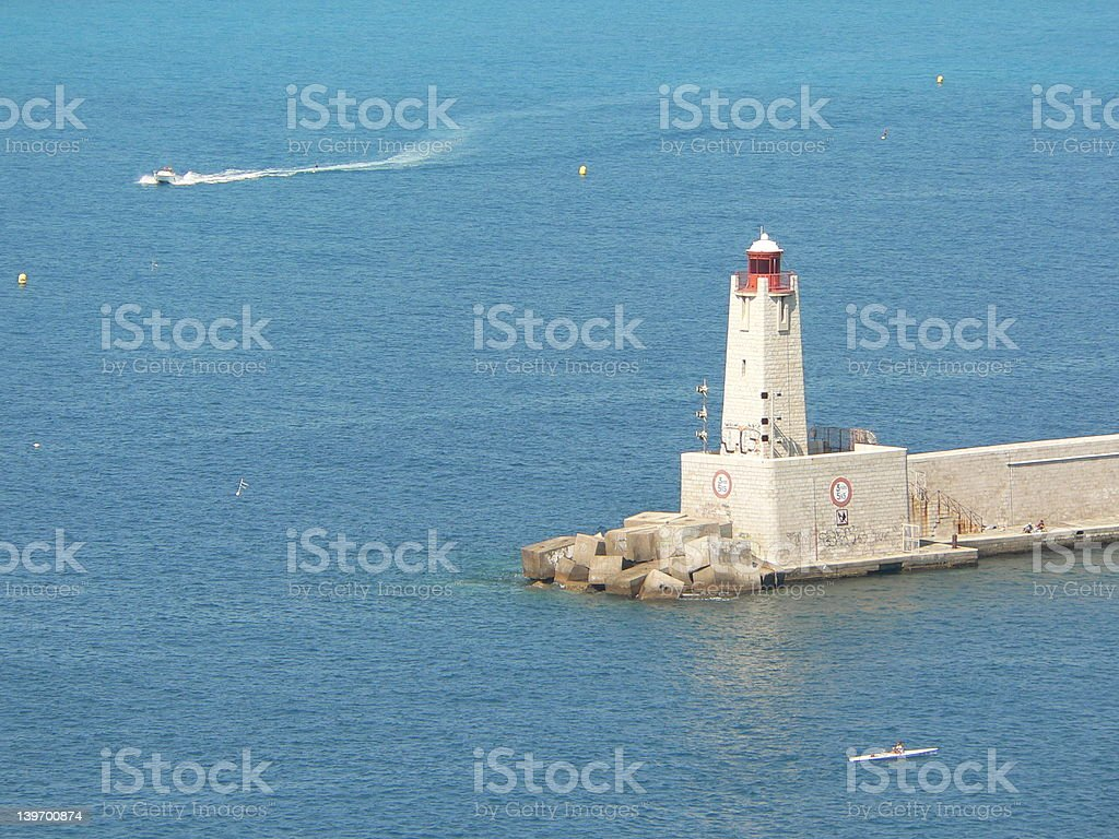 Lighthouse of Nice royalty-free stock photo