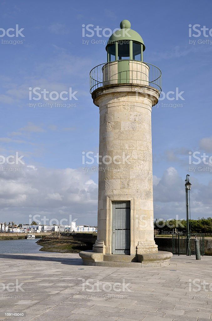 Lighthouse of Saint-Gilles-Croix-de-Vie in France royalty-free stock photo