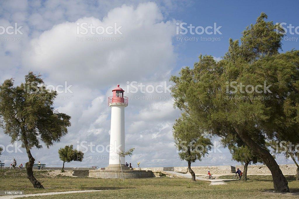 lighthouse of Saint-Martin-de-R? royalty-free stock photo