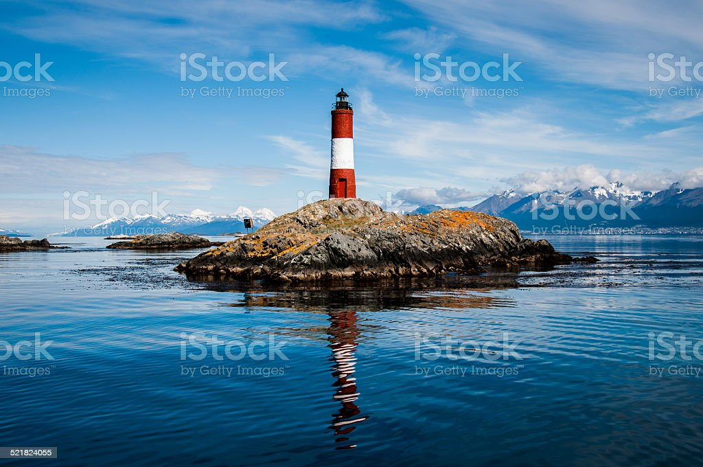 Lighthouse of the end of the world stock photo