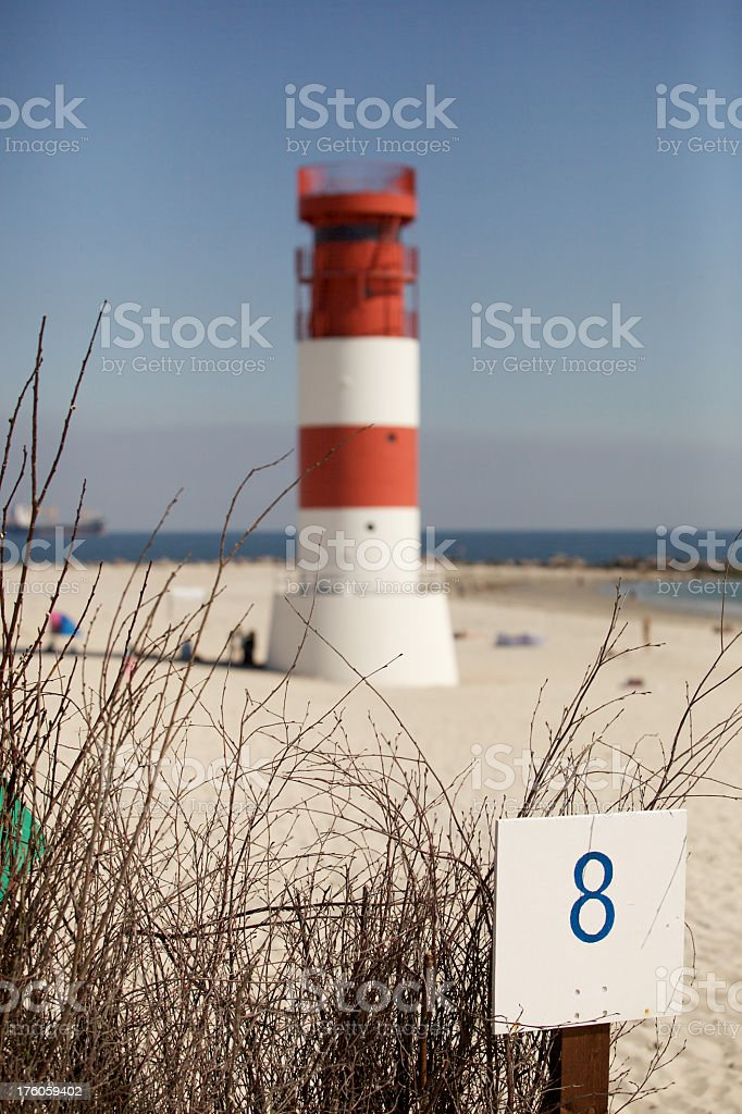 Lighthouse of the Island Düne stock photo