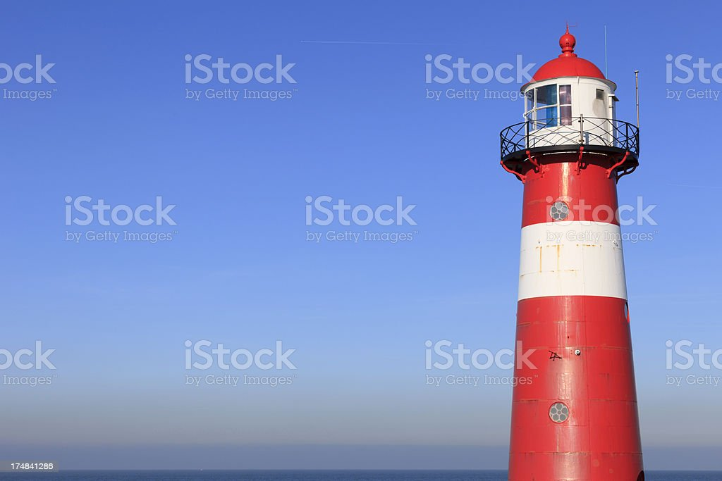 lighthouse of Westkapelle along the Dutch coast stock photo
