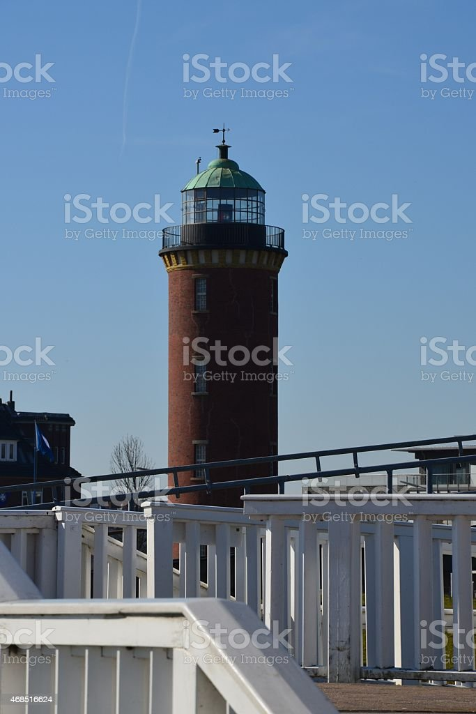 lighthouse 'Alte Liebe' stock photo