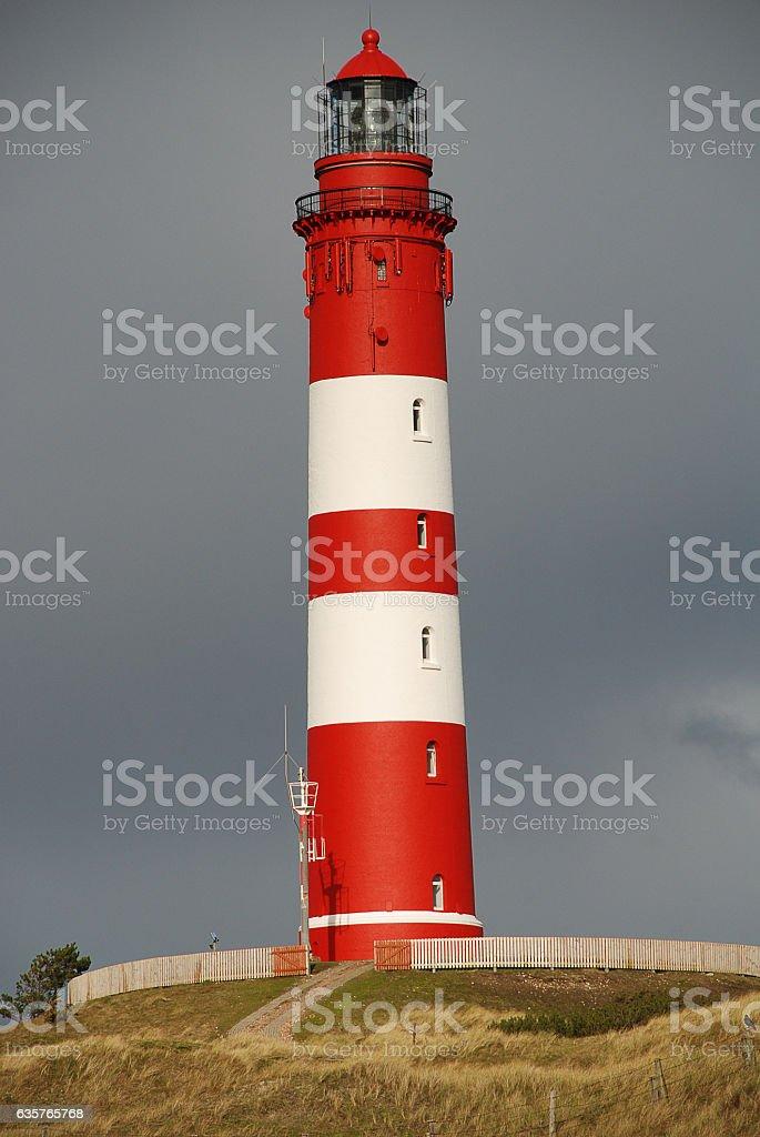 Lighthouse on Amrum, Germany stock photo