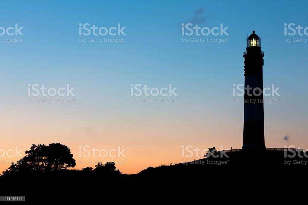 Lighthouse on Amrum stock photo