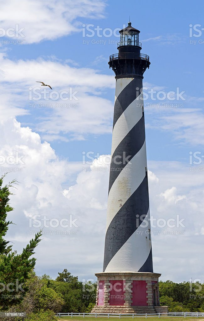 Lighthouse on Cape Hatteras royalty-free stock photo