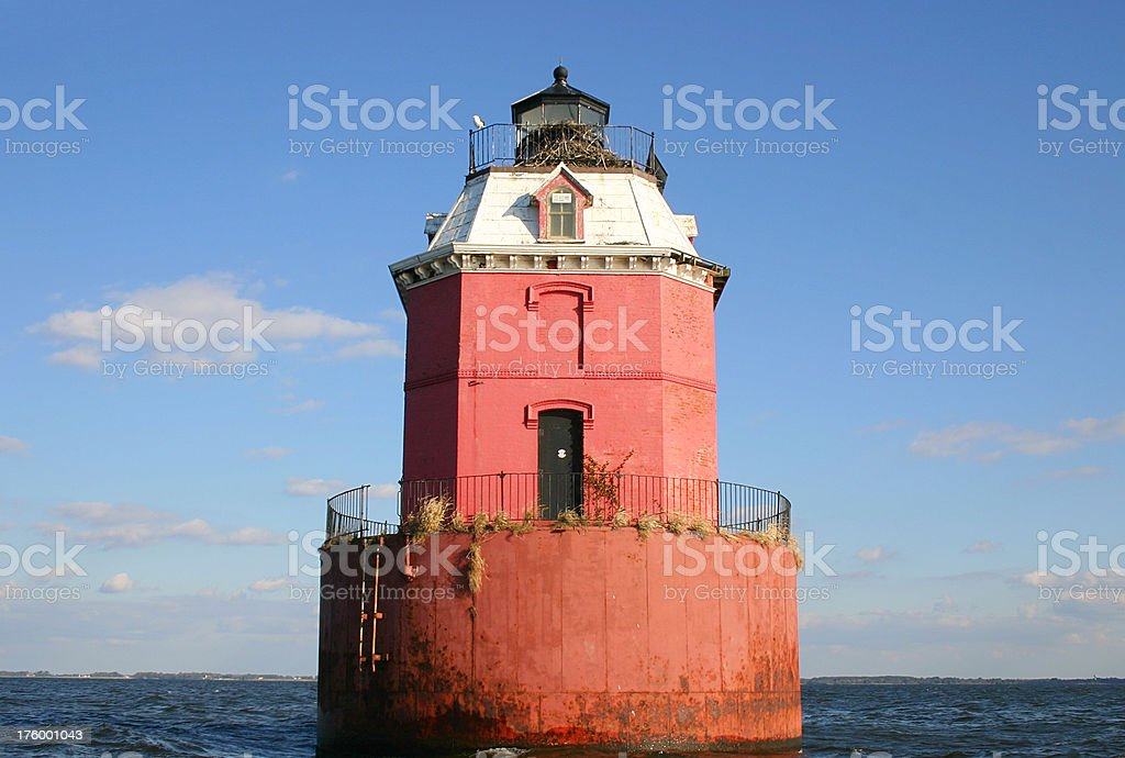 Lighthouse on Chesapeak Bay I royalty-free stock photo