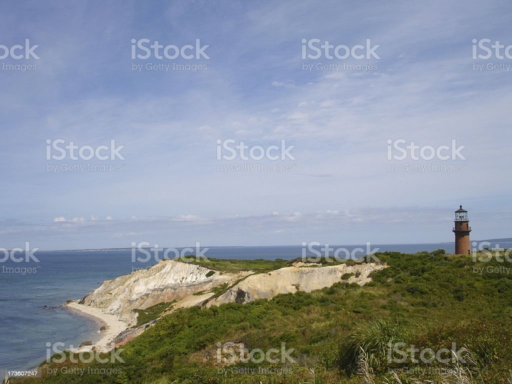 Lighthouse on Cliffs royalty-free stock photo