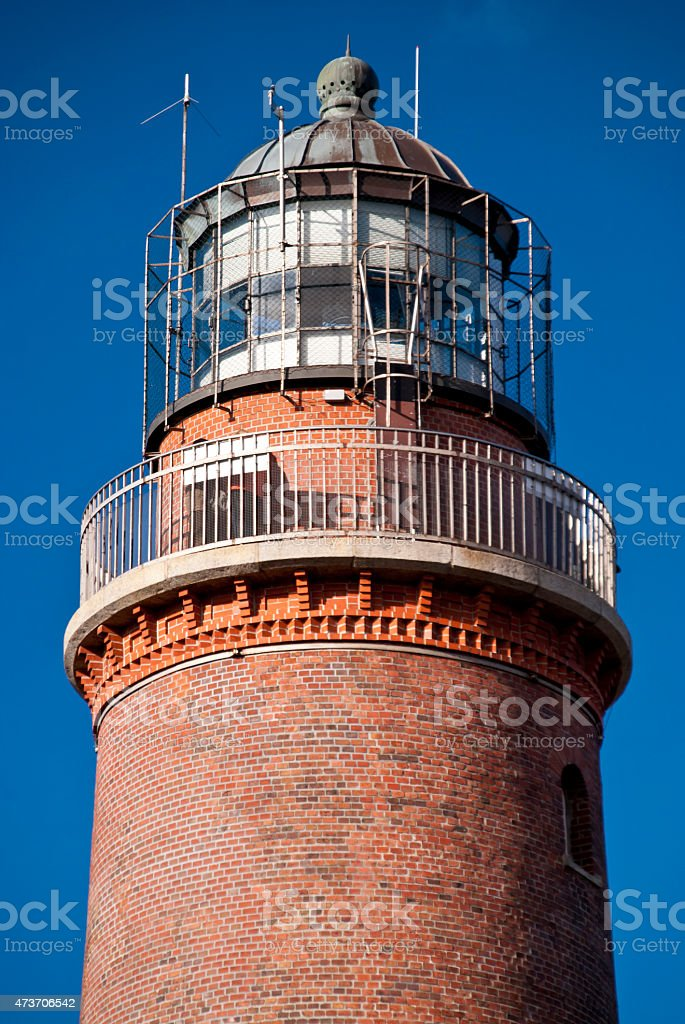Lighthouse on Darss in Germany stock photo