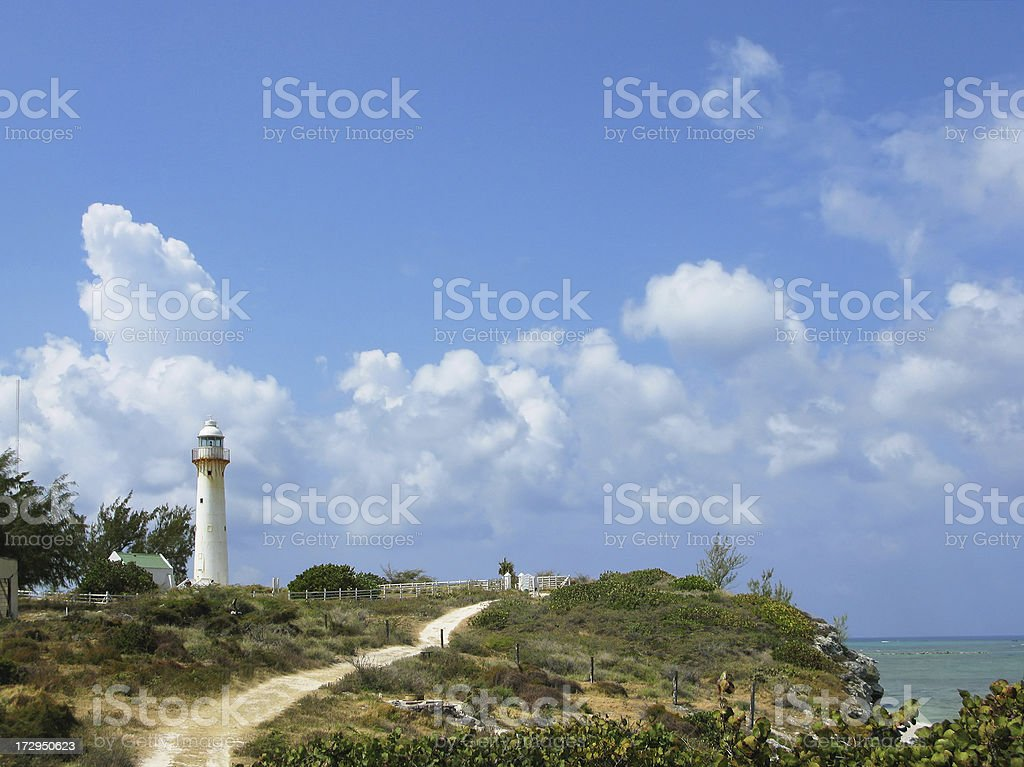 Lighthouse on Grand Turk, Turks and Caicos stock photo