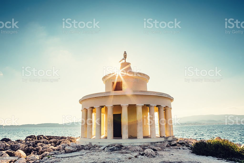 Lighthouse On Kefalonia Island stock photo