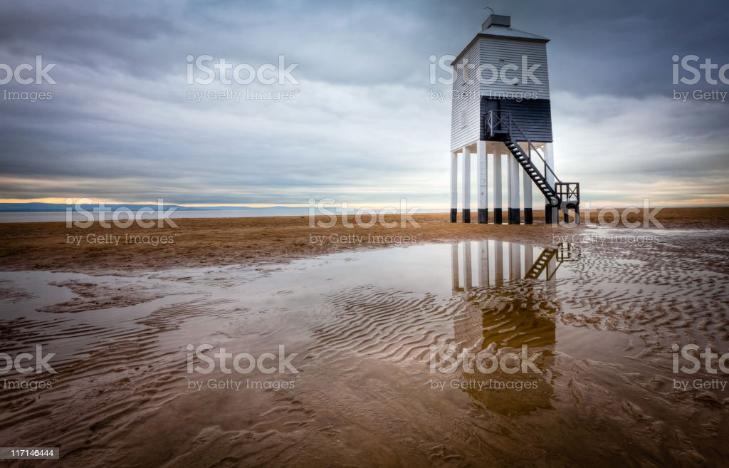 Lighthouse on legs HDR royalty-free stock photo