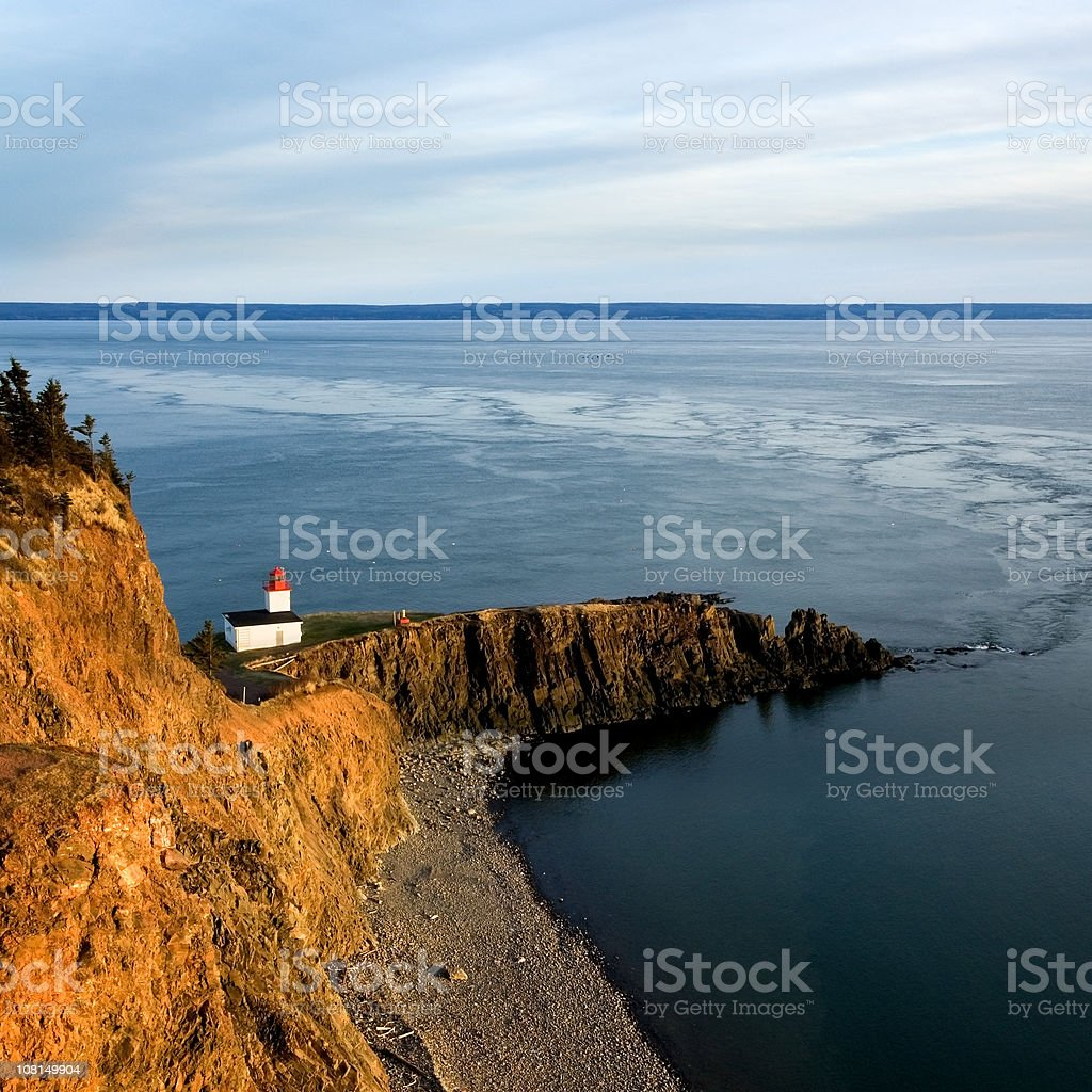 Lighthouse on Point royalty-free stock photo