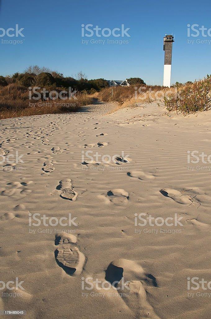 Lighthouse on Sullivan's Island royalty-free stock photo