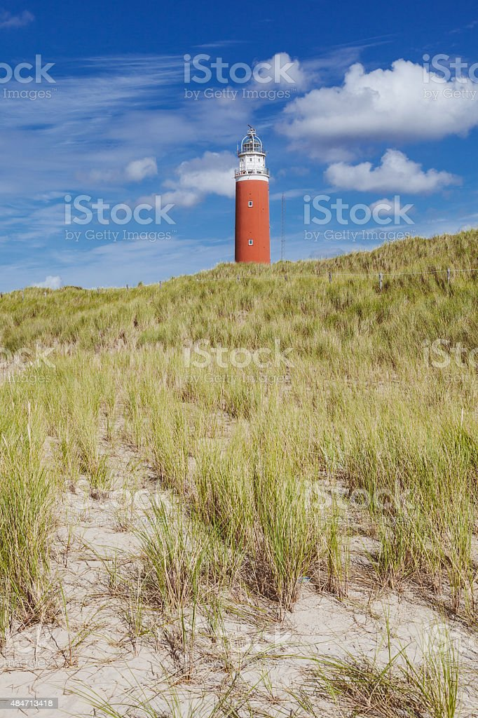 Lighthouse on Texel island - Holland stock photo