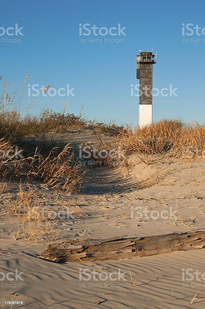 Lighthouse on the Beach royalty-free stock photo