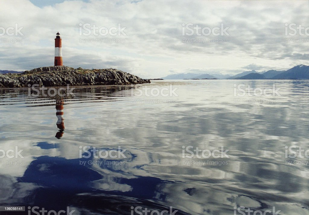 Lighthouse on the Beagle Channel stock photo
