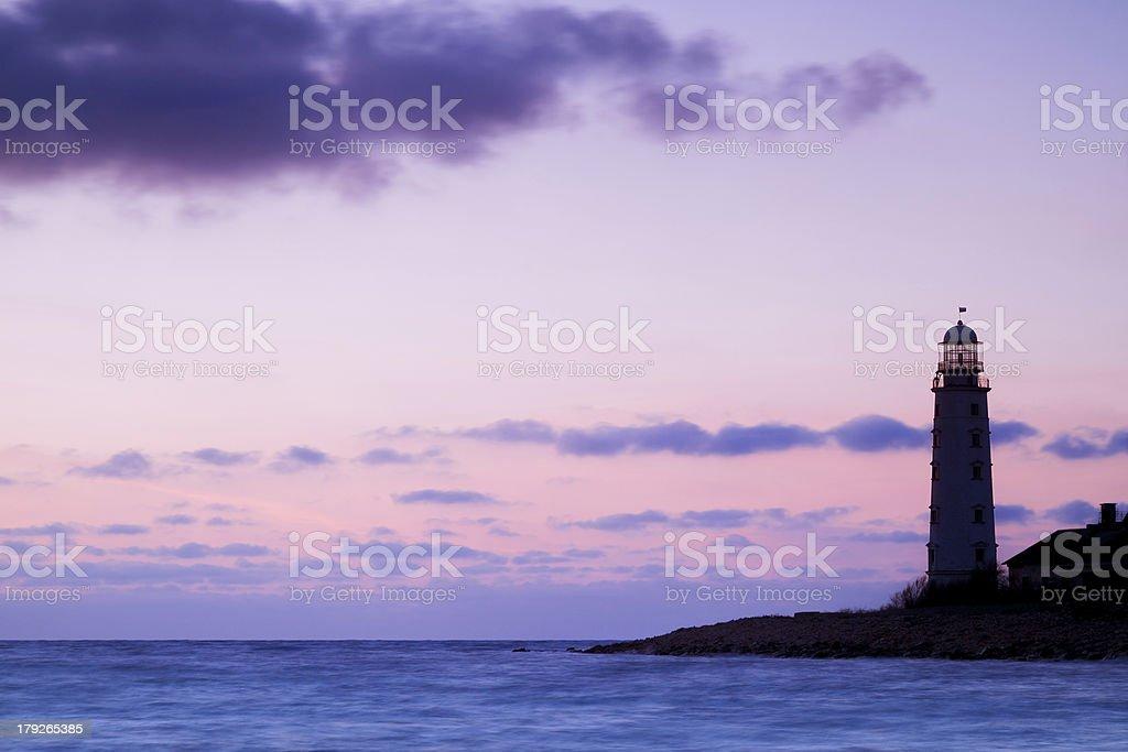 Lighthouse on the coast royalty-free stock photo