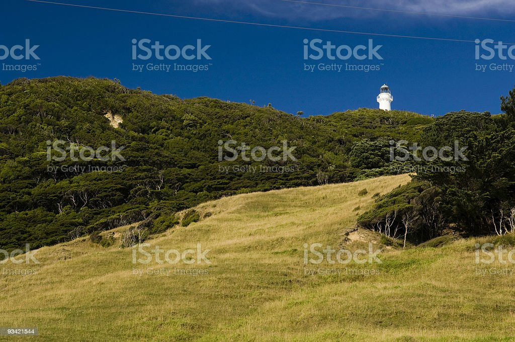 Lighthouse on the Hill stock photo