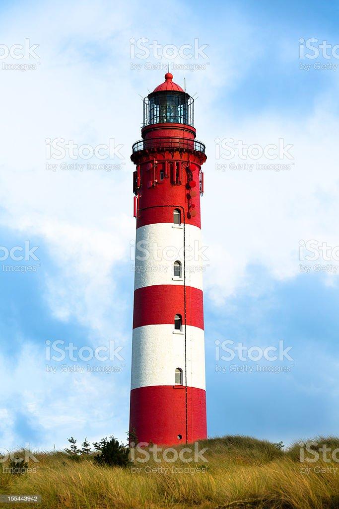 Lighthouse on the island Amrum royalty-free stock photo