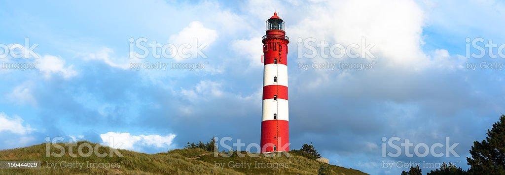 Lighthouse on the island Amrum stock photo