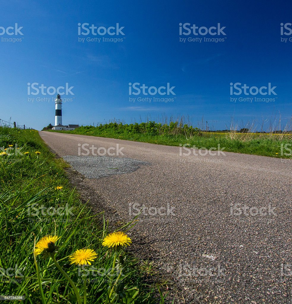 Lighthouse on the island of Sylt stock photo