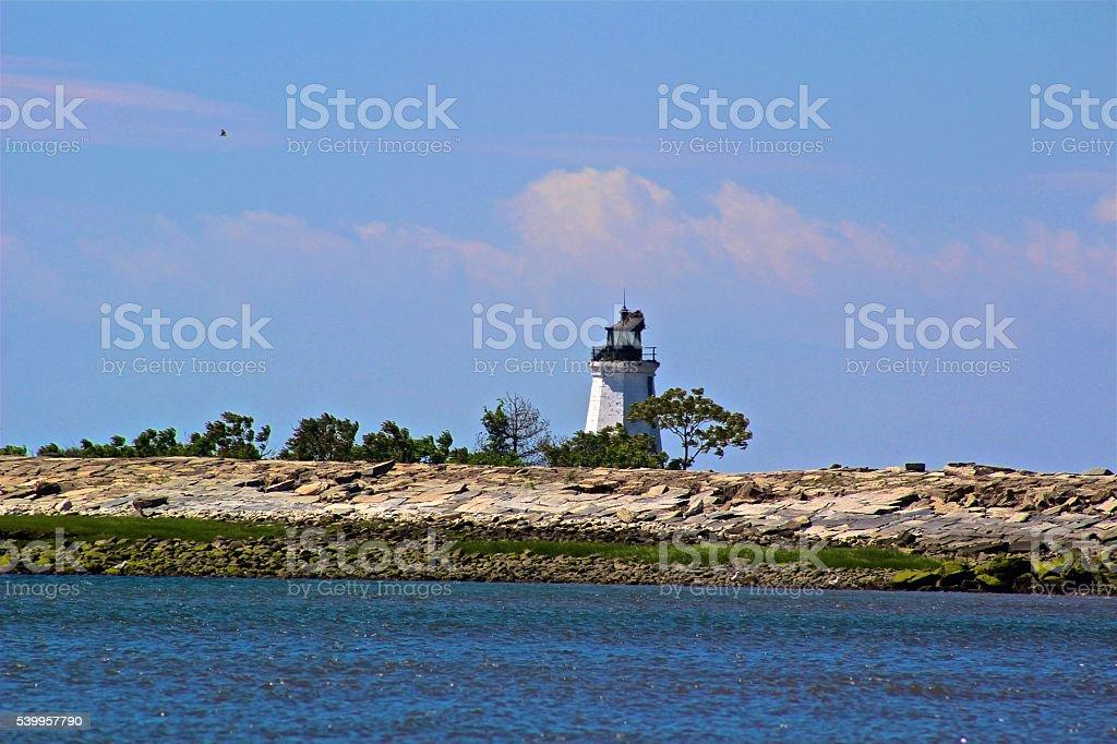 Lighthouse on the Island stock photo