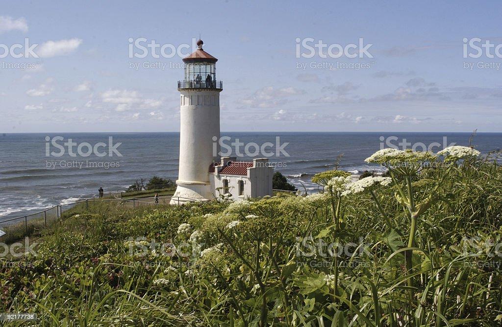 Lighthouse on Washington Coast royalty-free stock photo