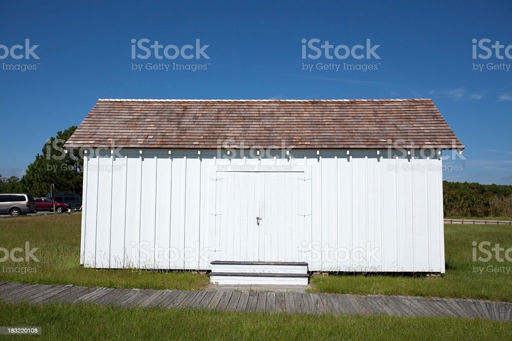 Lighthouse Outbuilding stock photo